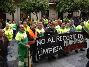 Protesta de la plantilla de Urbaser