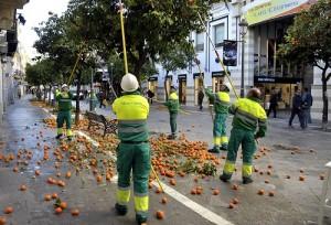 Recogida naranjas calle Larga _ 01