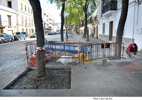 A punto de culminar los trabajos de adecentamiento de la calle Ancha