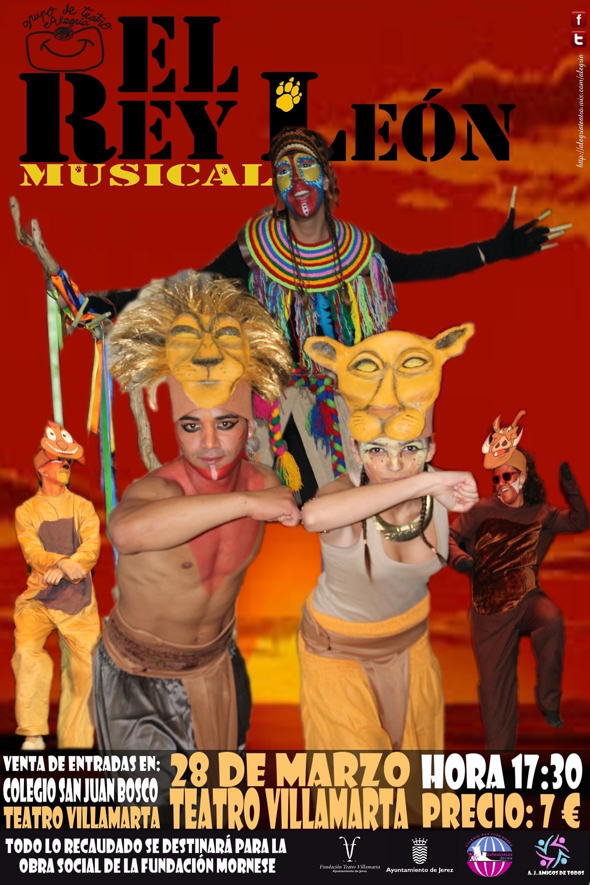 Las entradas para asistir al musical El Rey León en Villamarta el próximo 28 de marzo ya están a la venta