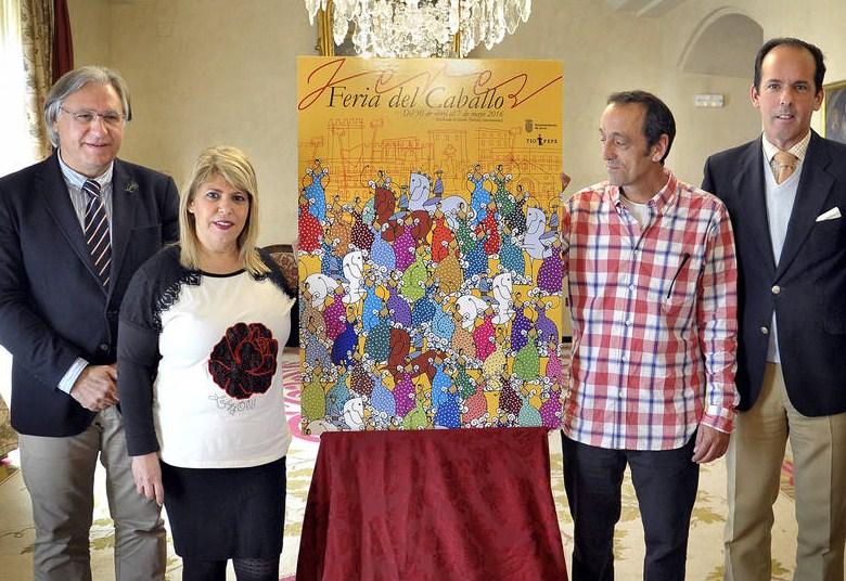 El cartel de la Feria del Caballo se centra en la figura de la mujer, obra de Carlos Crespo
