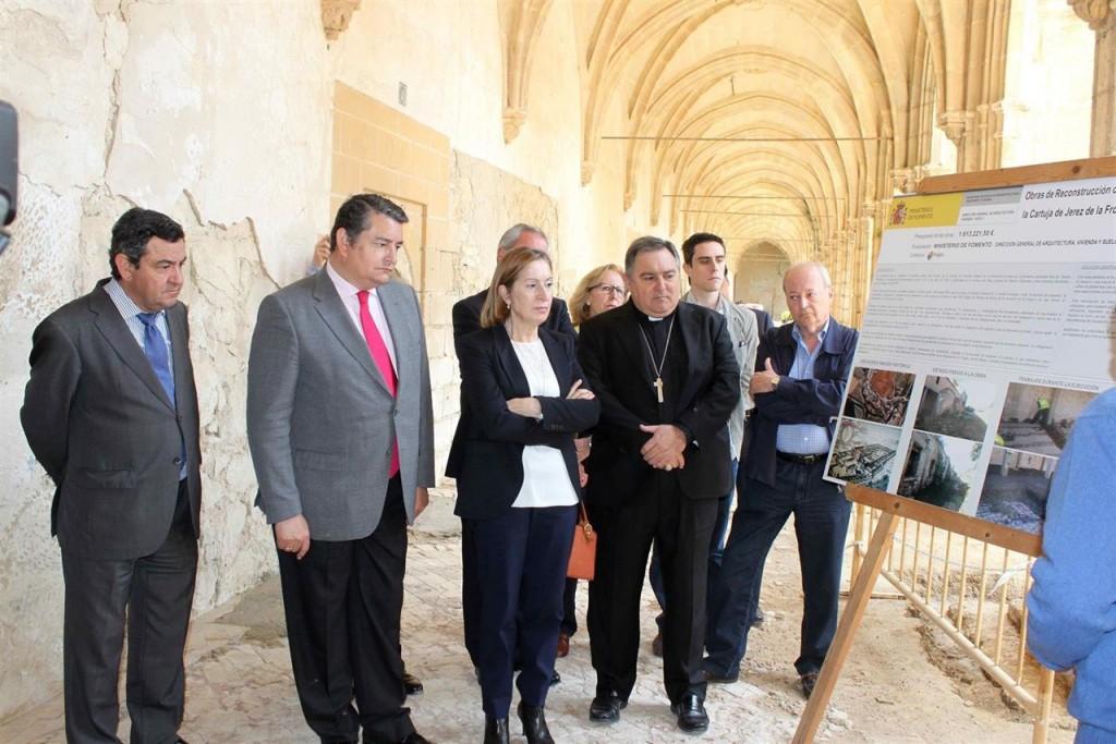 Las obras de rehabilitación del monasterio de La Cartuja finalizarán en 2017