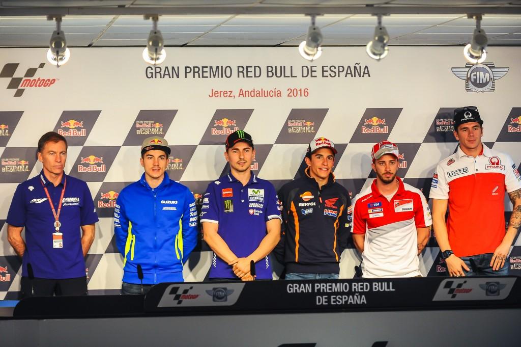La marcha de Lorenzo a Ducati marca la primera comparecencia de pilotos en Jerez