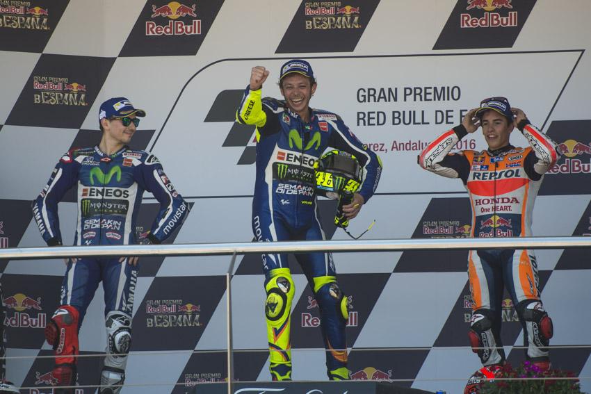 Rossi se pasea en Jerez