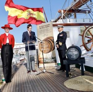 MauricioGonzalezGordon_presidente_GonzalezByass_IgnacioPazGarcia_Comandante Capitán de Navío Elcano