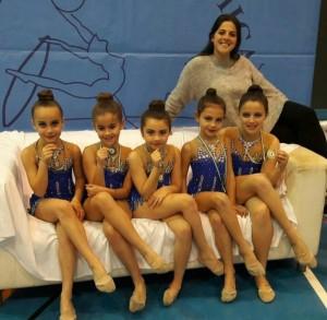 gimnasia ritmica alevin promesa y entrenadora Mar Gonzalez