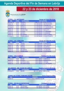 Fin de semana deportivo 12-22-18