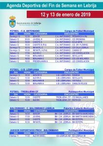 Fin de semana deportivo 01-12-19