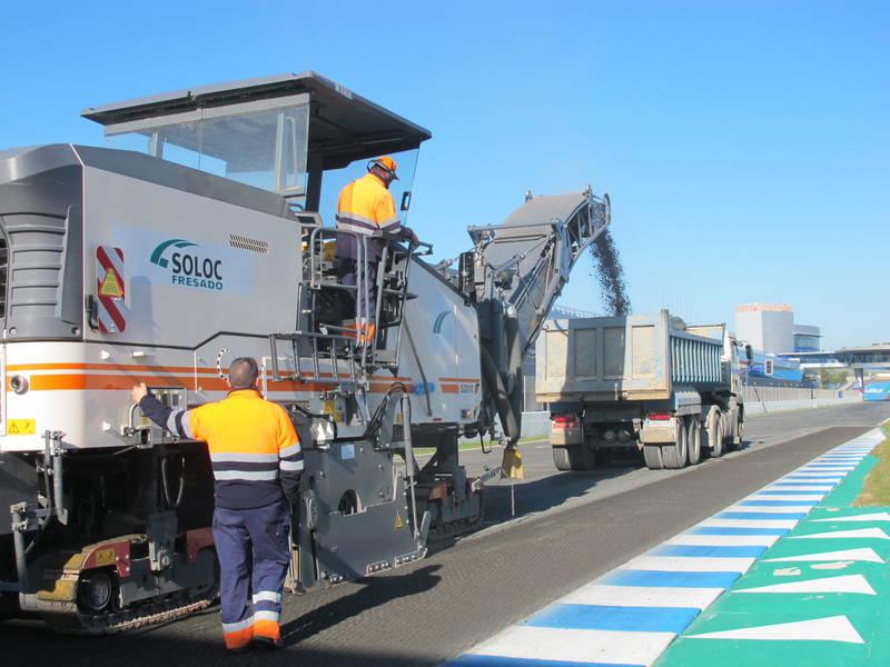 Comienzan las obras de reasfaltado en la pista del Circuito de Jerez