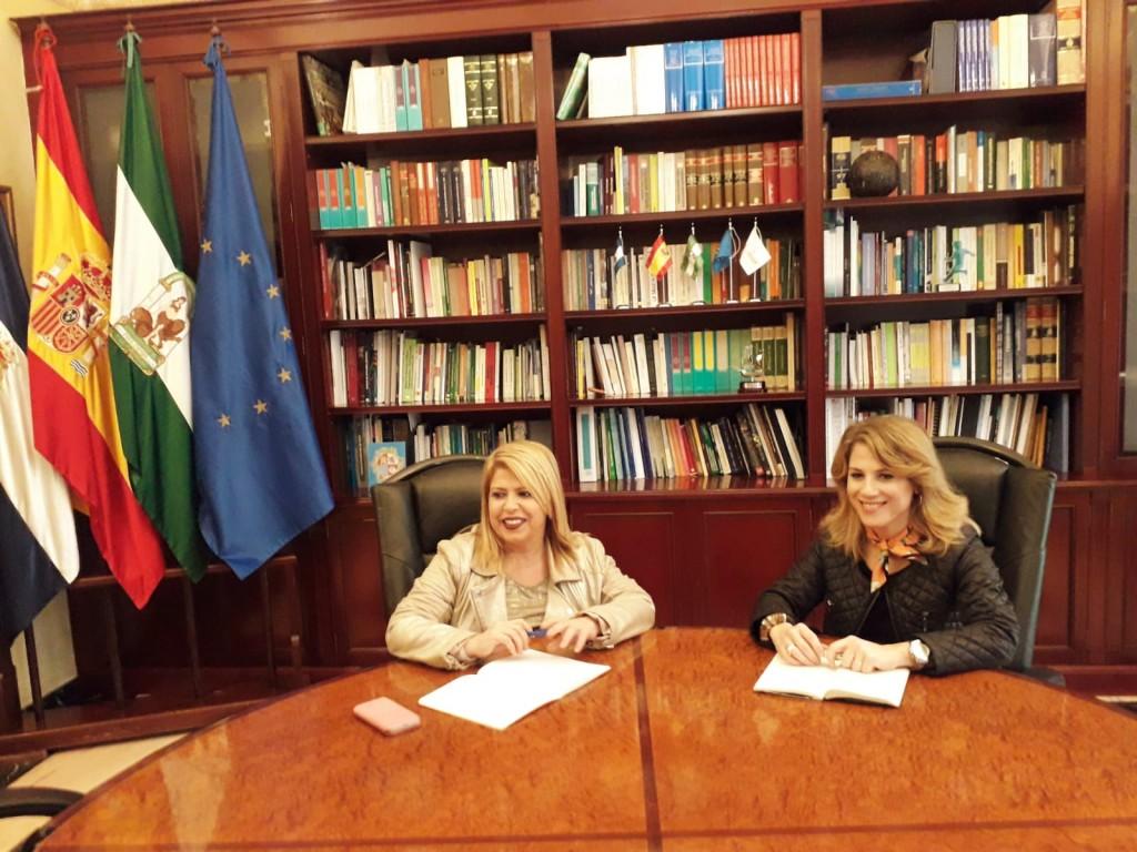 Ana Mestre mantiene un primer encuentro institucional con la alcaldesa de Jerez