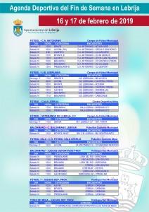 Fin de semana deportivo 02-16-19