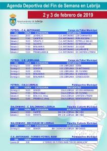 Fin de semana deportivo 03-02-19