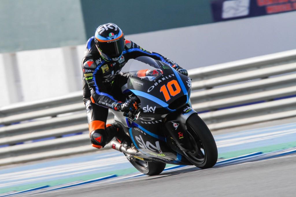 Marini pulveriza los registros anteriores en Moto2 y Tony Arbolino manda en Moto3