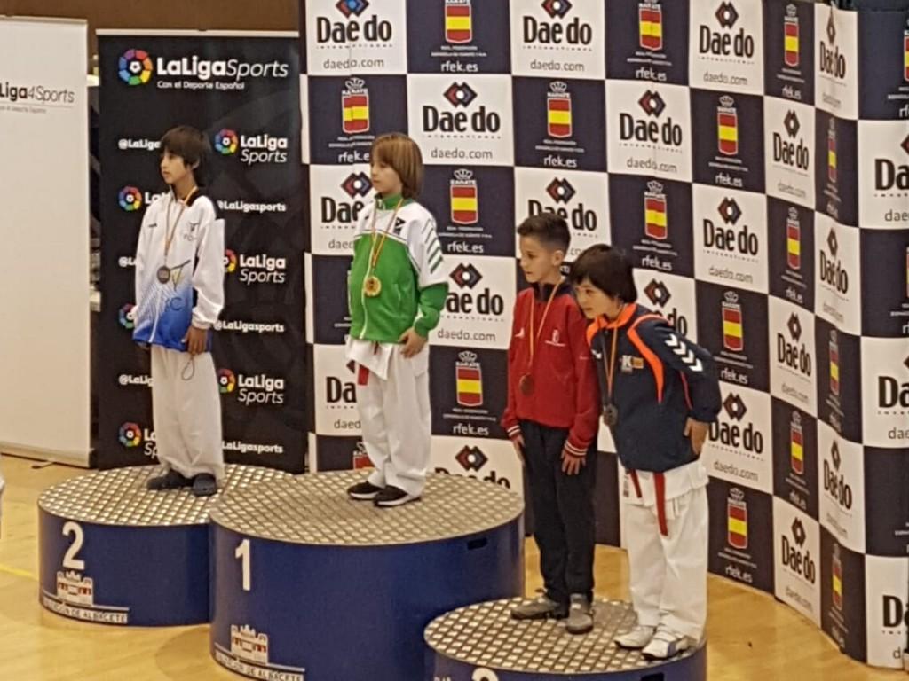 El karateka Manuel Campos se proclama campeón de España de categoría infantil