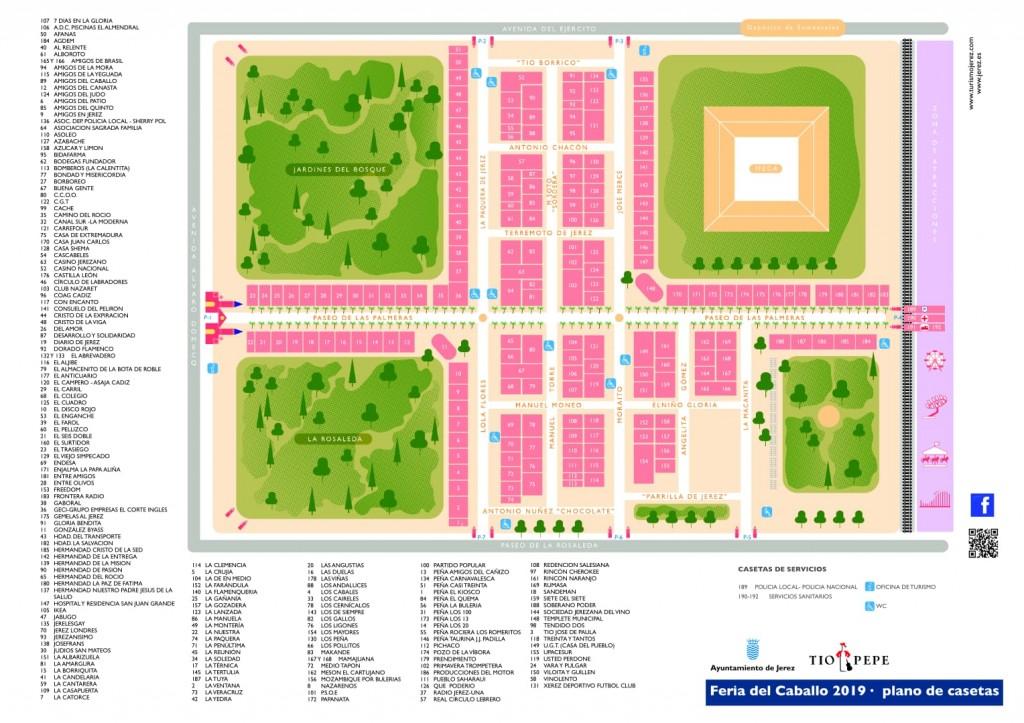 Así queda el plano definitivo de casetas para la Feria