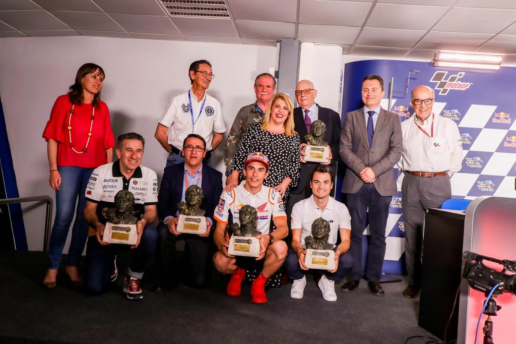 Marc Márquez, Dani Pedrosa, Jorge Martínez 'Aspar' y Jesús Benítez, premiados