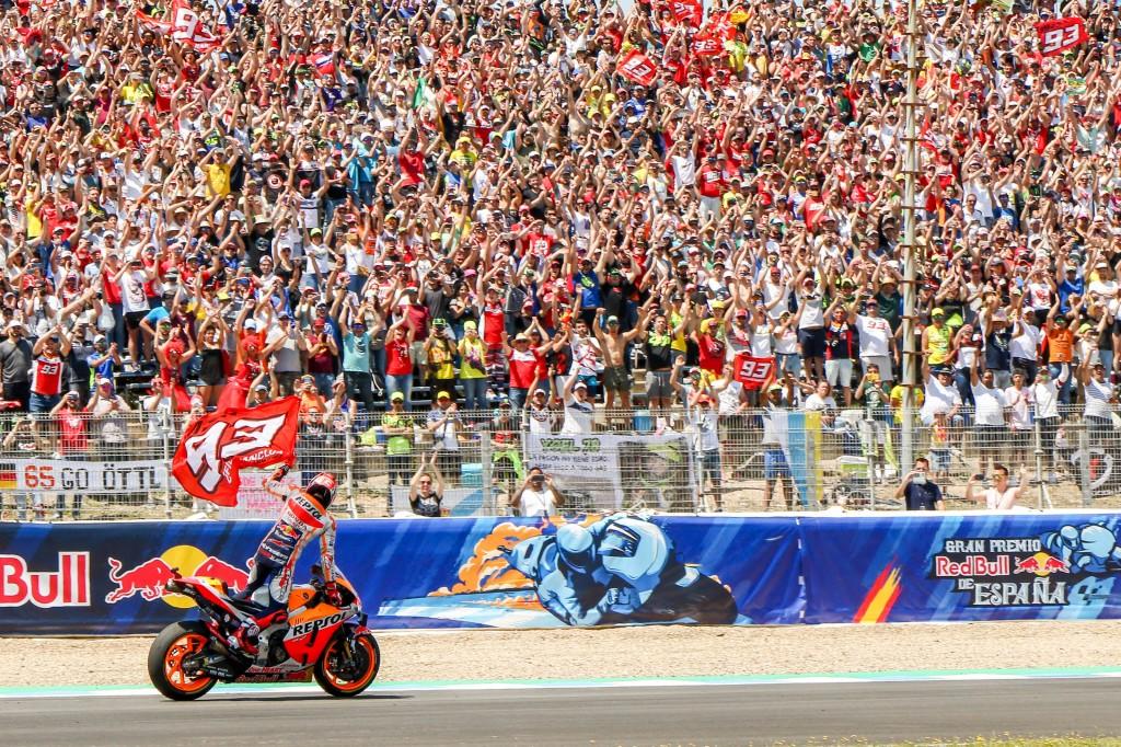 Dominio absoluto de Marc Márquez en Jerez para ganar y recuperar el liderato