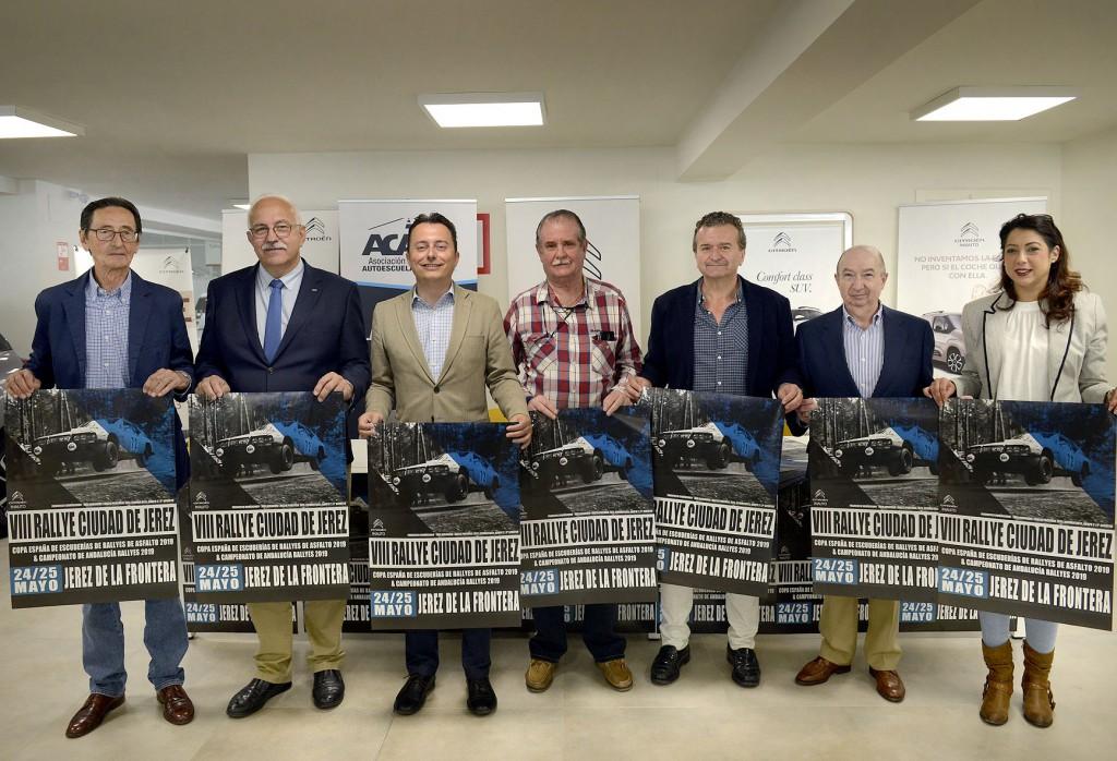 Presentado el cartel del VIII Rallye 'Ciudad de Jerez' que saldrá de la avenida Álvaro Domecq