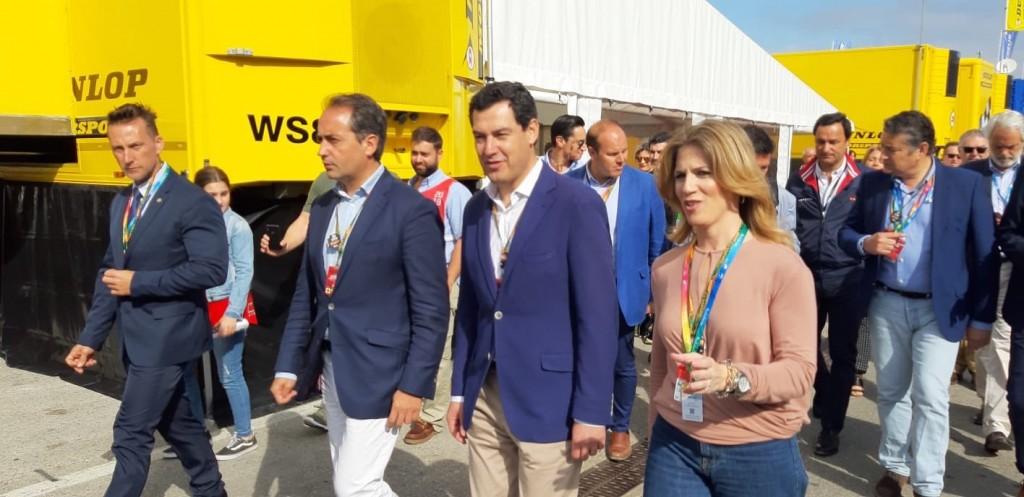 Antonio Saldaña pide el apoyo de la Junta para la vuelta de la Fórmula Uno a Jerez