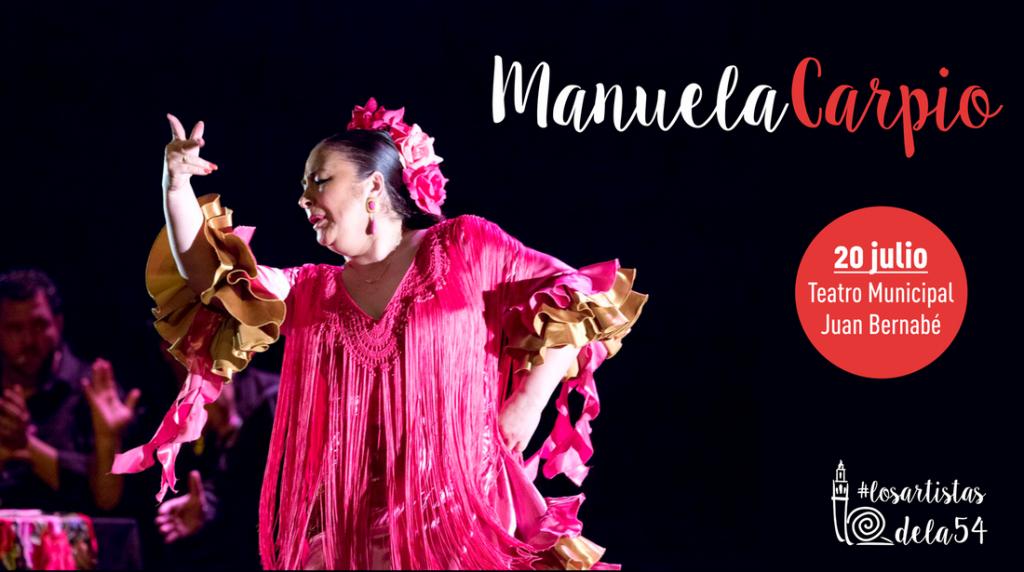 La bailaora Manuela Carpio pondrá el broche final de la 54ª Caracolá Lebrijana