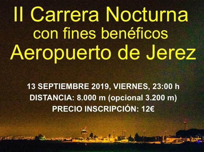 El 13 de septiembre se celebrará la II carrera nocturna benéfica Aeropuerto de Jerez