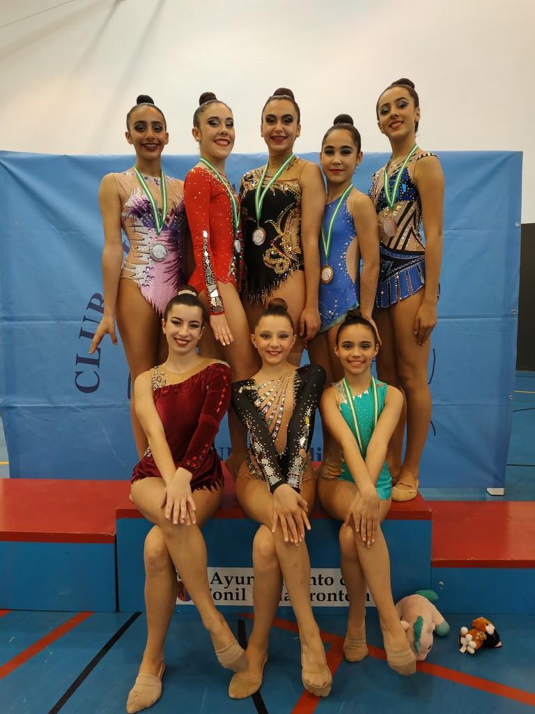 Brillante estreno de temporada para las gimnastas jerezanas en el Torneo Ciudad de Conil
