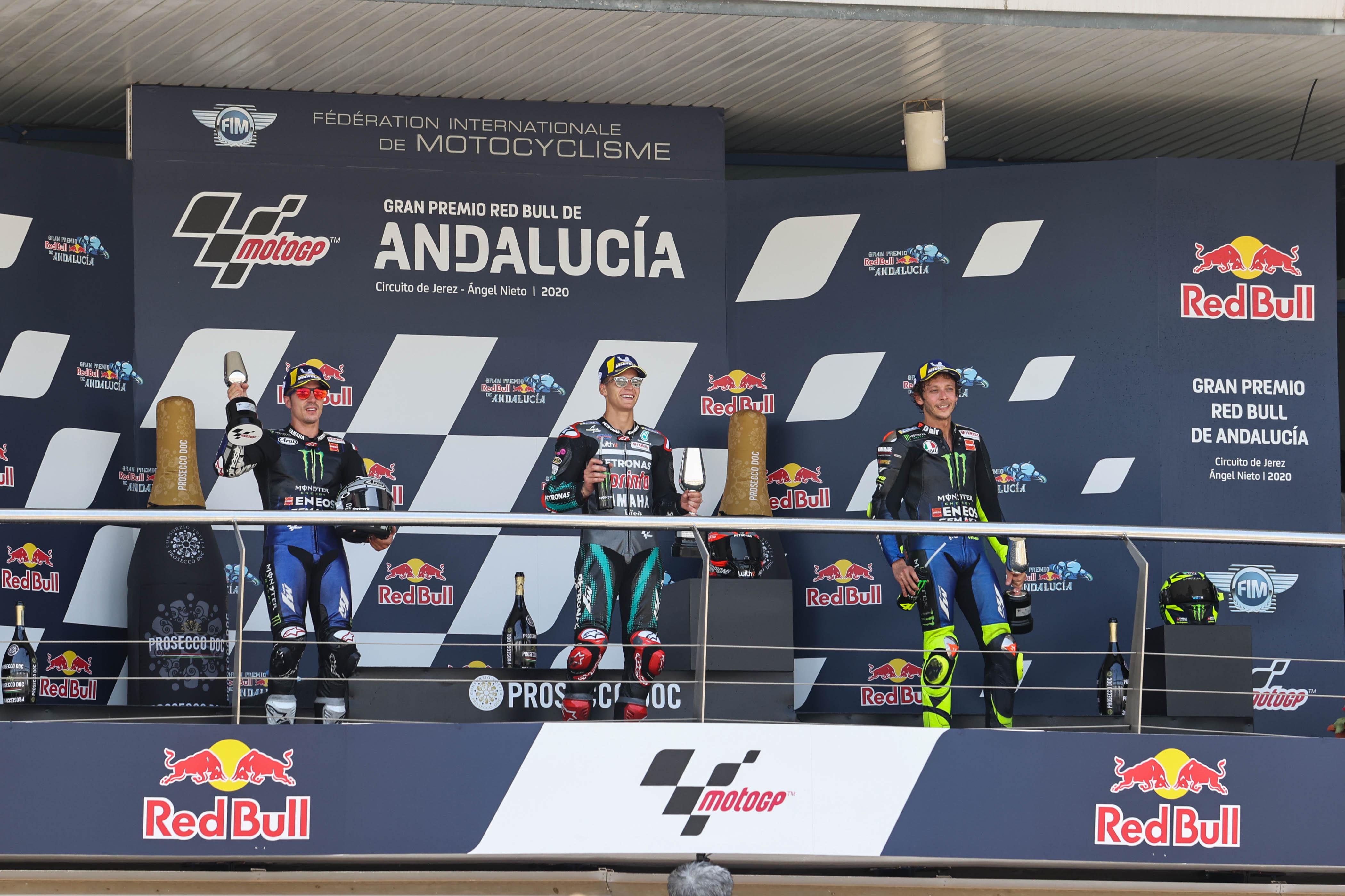 Fabio Quartararo, seguido de Viñales y Rossi copan el podio en el Circuito