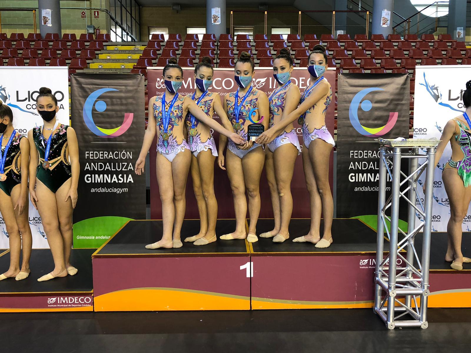 Dos oros y cuatro diplomas andaluces para las gimnastas jerezanas en Córdoba