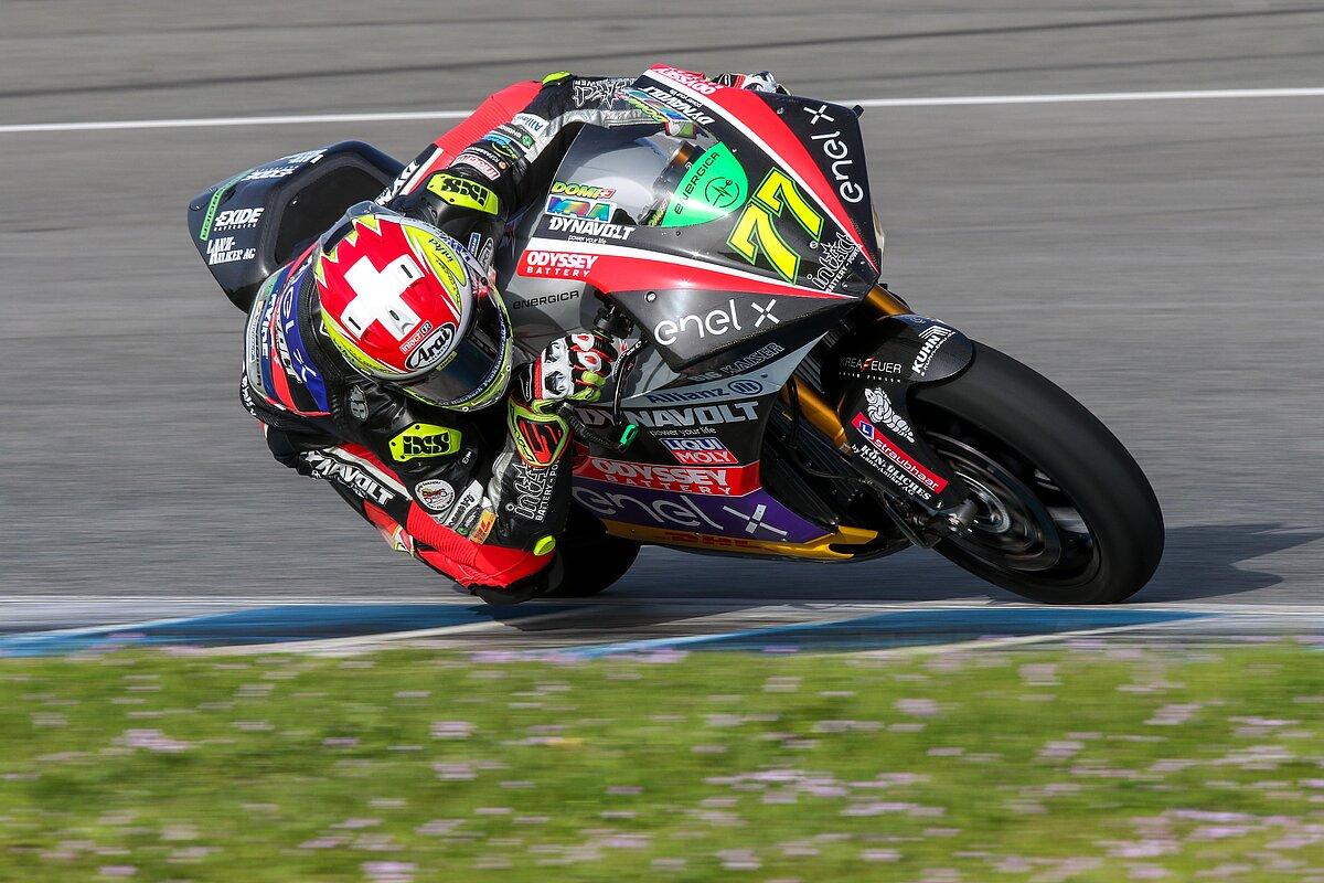 Los pilotos de la Copa del Mundo de MotoE ya ruedan en el Circuito de Jerez Ángel Nieto