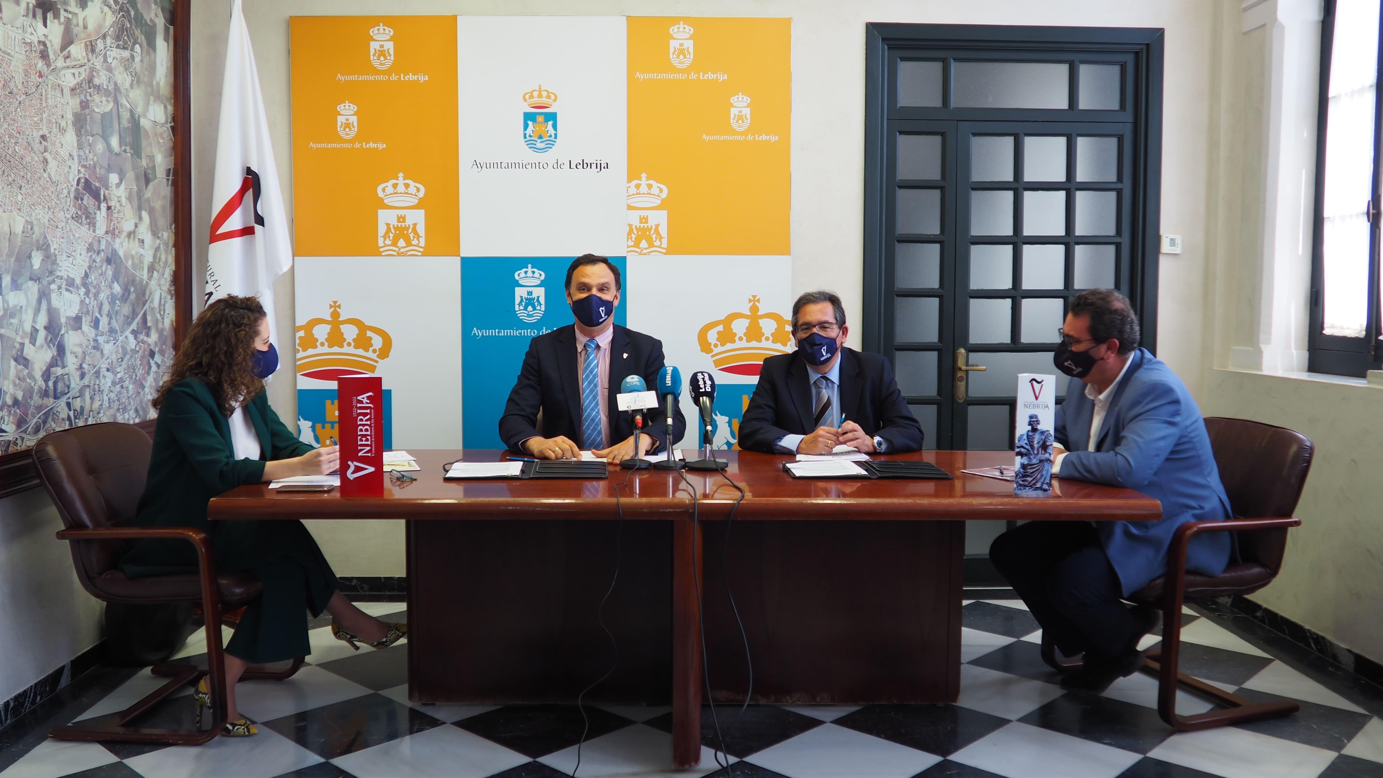 La Fundación Cajasol trabajará con el Ayuntamiento por el año 'Nebrija' 2022