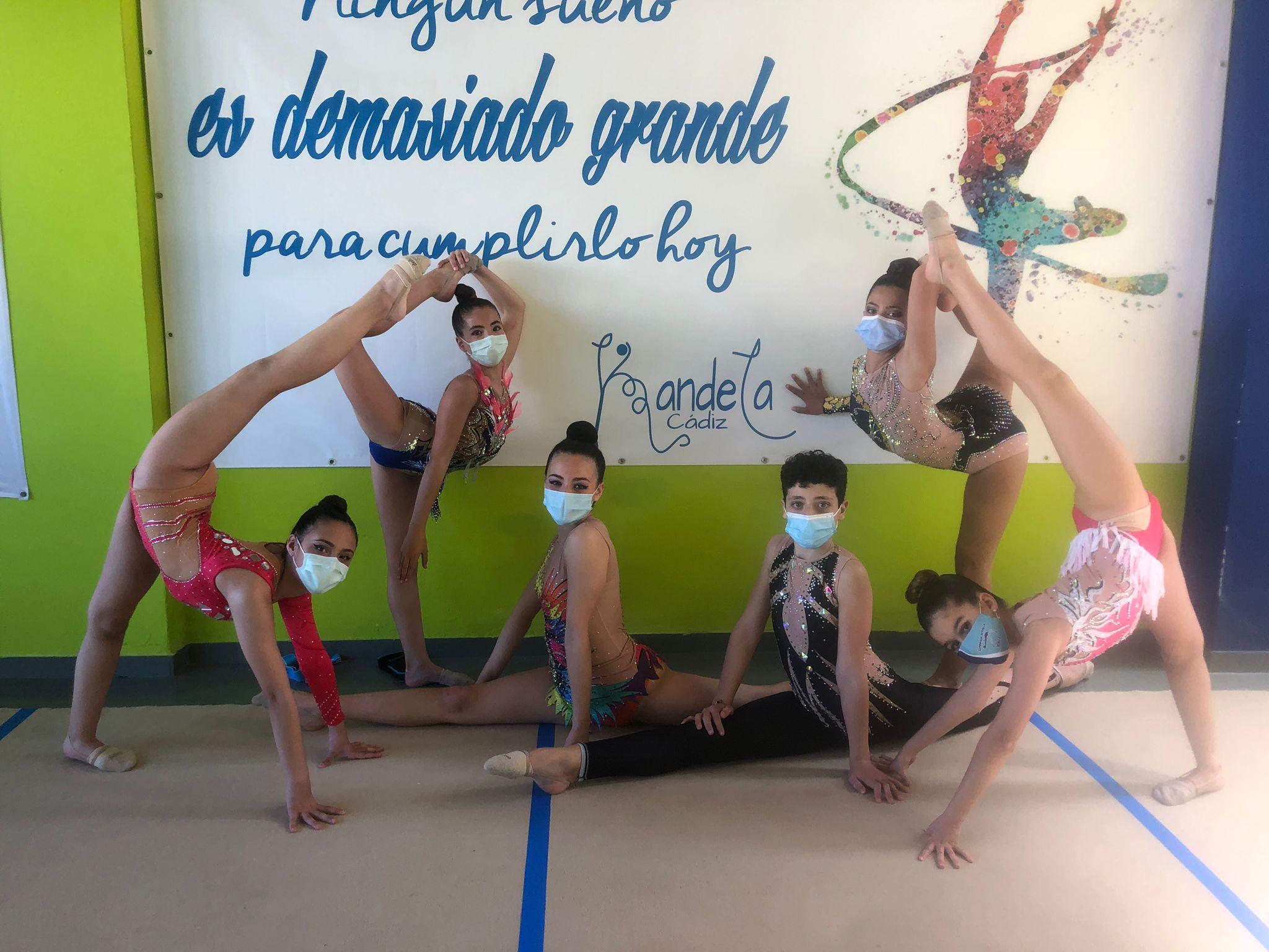 5 oros, 3 platas y 1 bronce para las gimnastas jerezanas en el Festival Primavera del Club Kandela