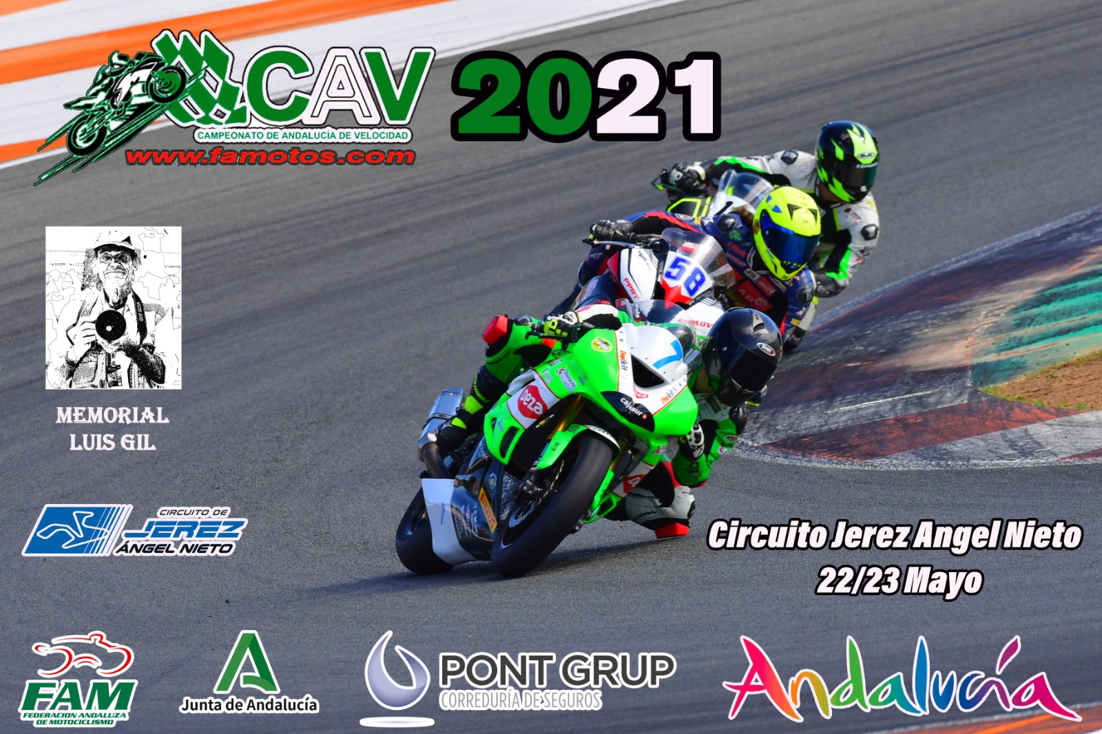 El Campeonato Andaluz de Velocidad junto al Interterritorial, hacen parada en Jerez