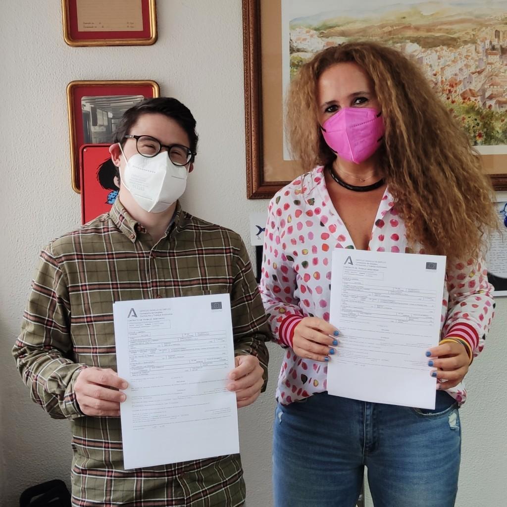 La empresa Gestión Jerez hace indefinido a un empleado con Síndrome de Down