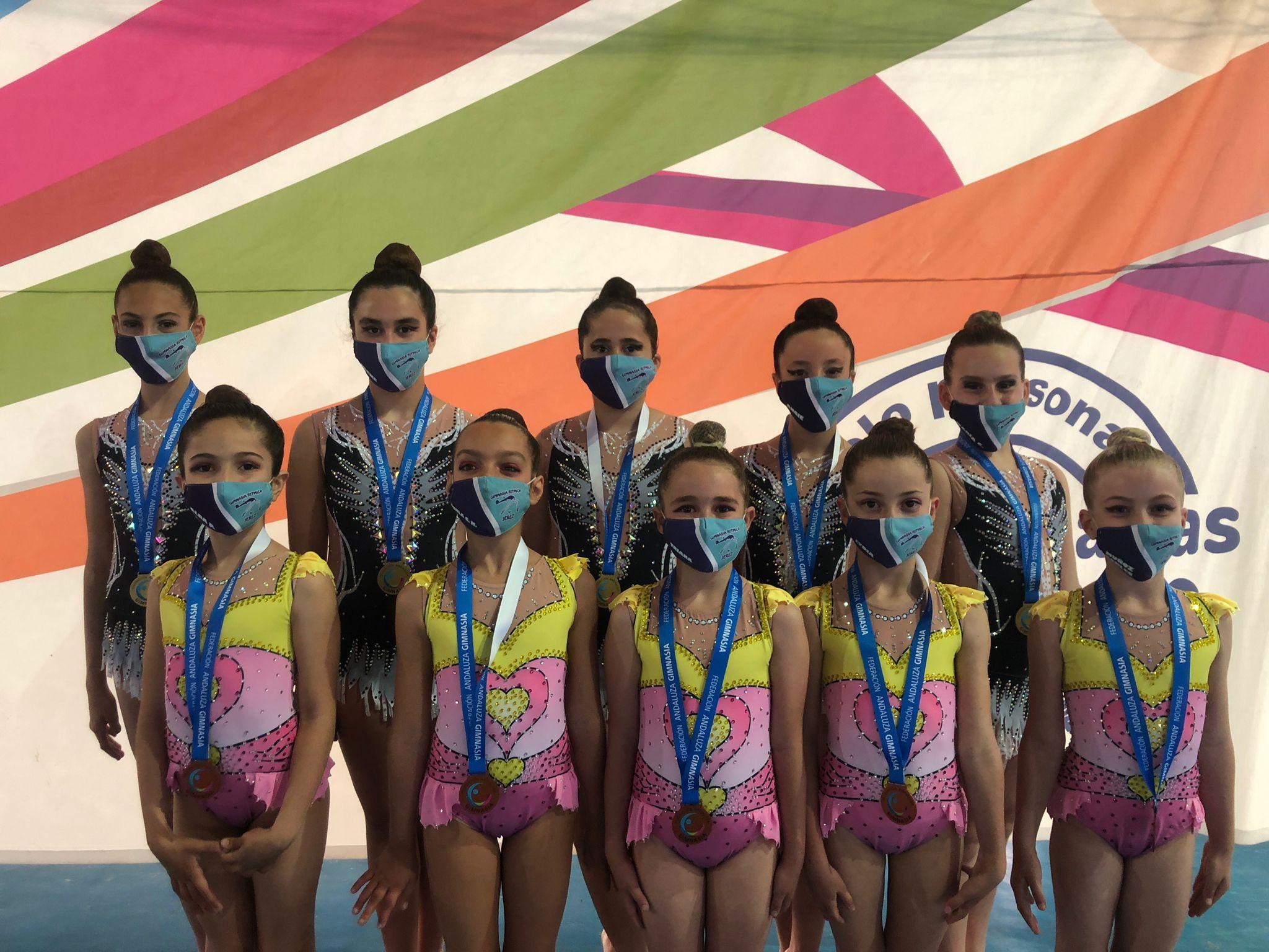 El Club Gimnasia Rítmica Jerez logra dos medallas y un diploma en la primera fase andaluza
