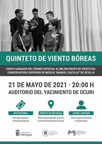 Concierto en Ubrique a cargo del Quinteto de Viento Bóreas