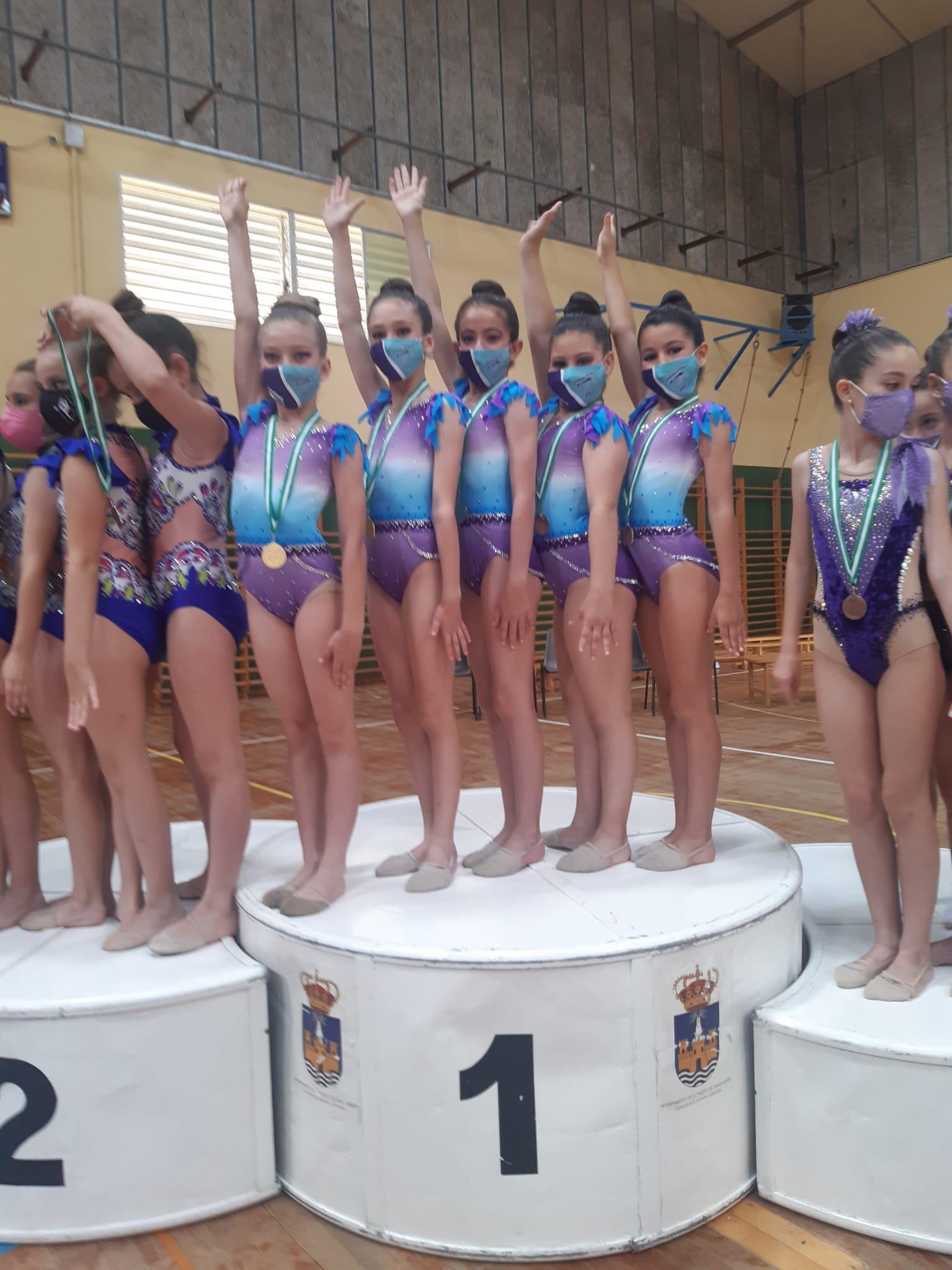 Pleno para las gimnastas jerezanas en El Puerto