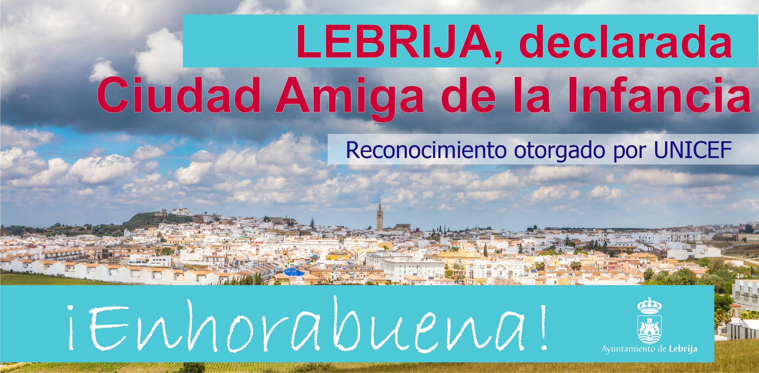 Lebrija logra el reconocimiento de 'Ciudad Amiga de la Infancia' que otorga Unicef